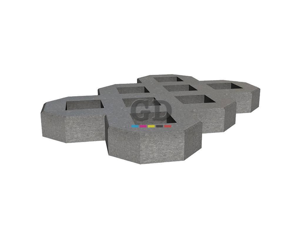 40Cm X 60Cm Çim Taşı