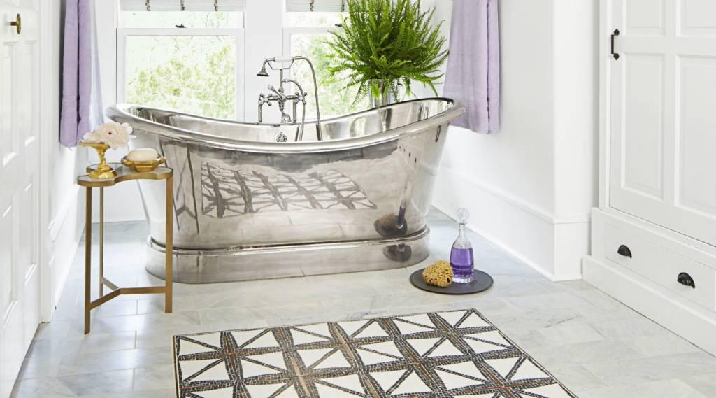 Banyolarda Mozaik Halı Desenleri
