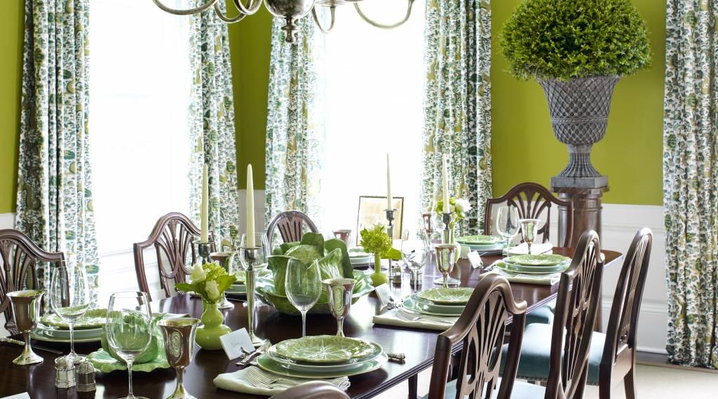 Yeşil Tonlarda Yemek Odaları