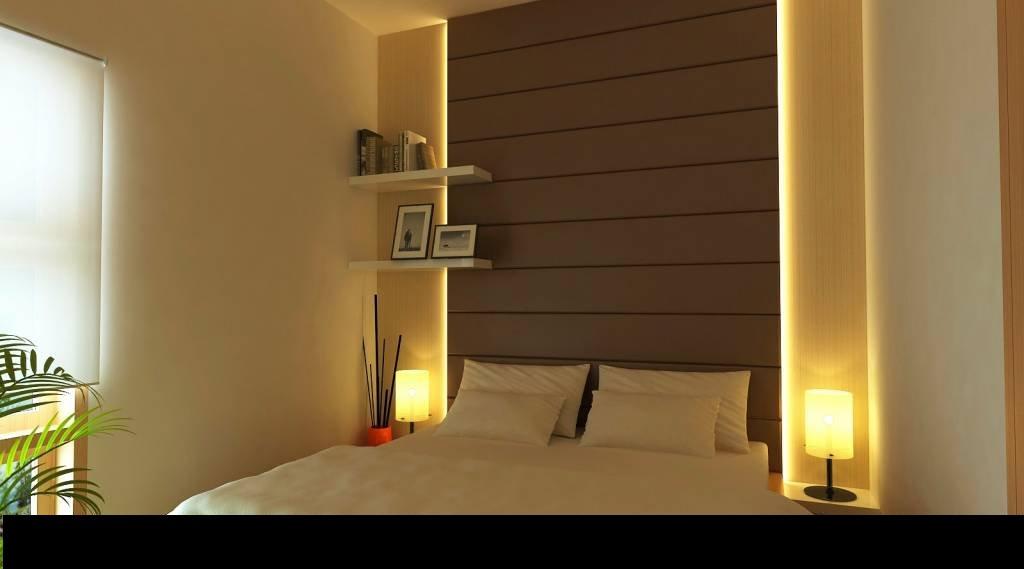 Gizli Işıklı Yatak Odası Alçıpan Duvar Dekorları