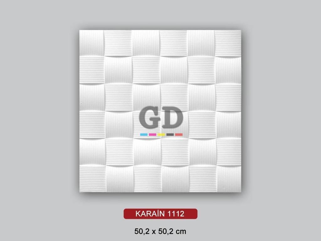 Karain Hasır Desenli 50X50 Tavan Köpüğü